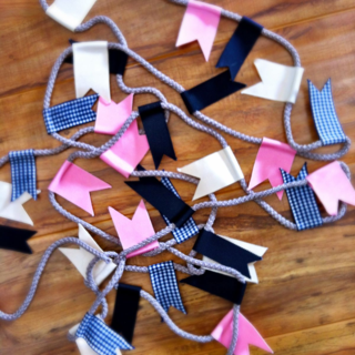 Ribbon Flag Garland
